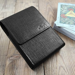 APEE Leather Handmade ~ Tarot Special Leather Case ~ Cross Black