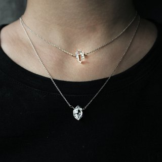 Che | Herkimer Diamond Herkymon Naked Silver Necklace