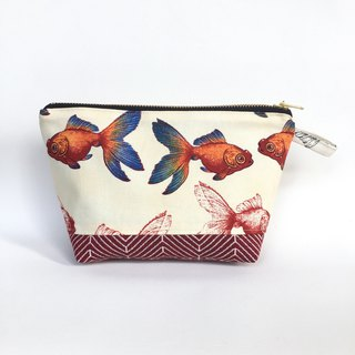Goldfish Madness Makeup Pouch 2018 Collection - Red