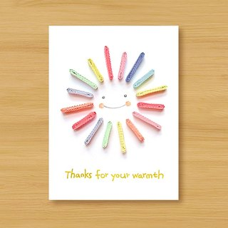Handmade Roll Paper Cards _ Thank you for your warmth Thanks for your warmth