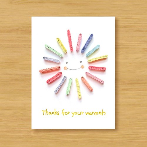 Hand roll paper card thank you for your warmth thanks for your hand roll paper card thank you for your warmth thanks for your warmth altavistaventures Images