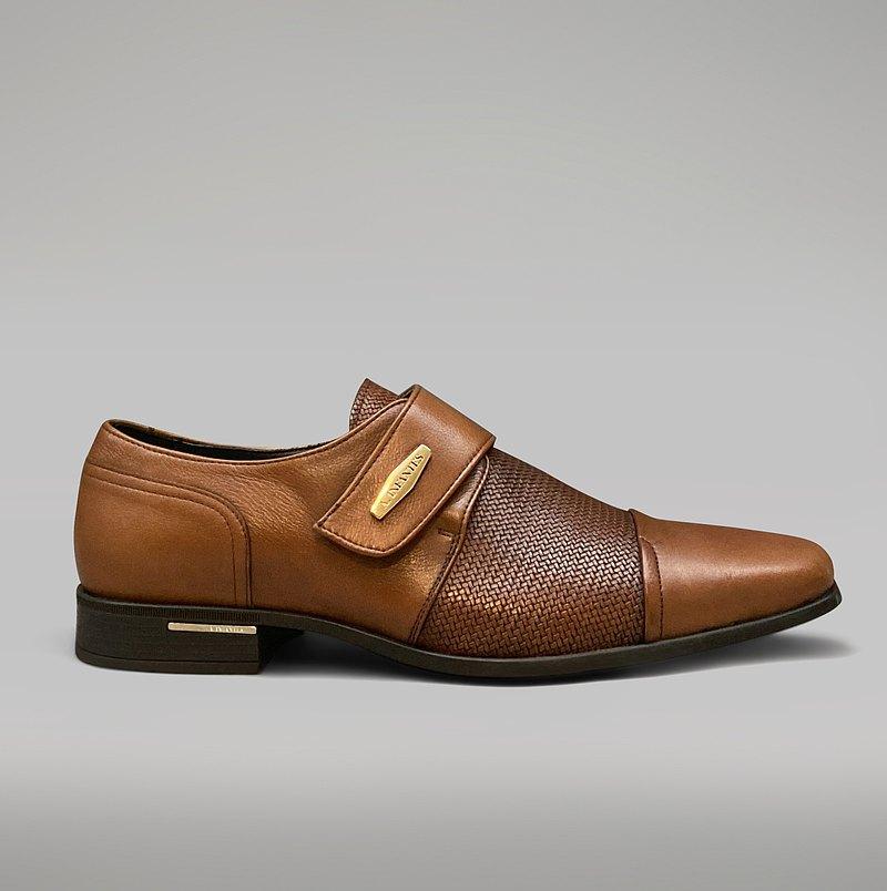 Angel Infantes 西班牙全真皮魔鬼氈皮鞋-棕色