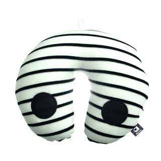 Voyage Travel neck cushion - White & black