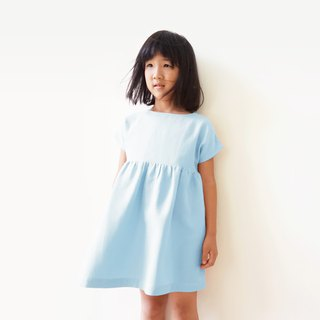 Harmony Yarn Knit Girl Dress - Aqua Blue