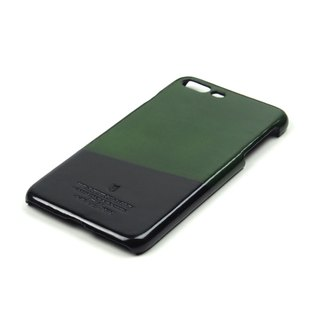 Racket leather case iPhone 7 Plus /Badminton (Green-Black)