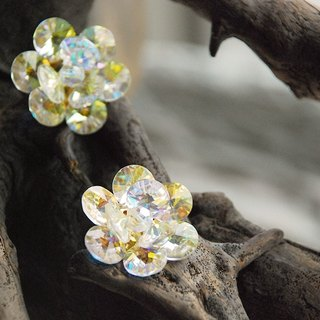 {::: Giraffe giraffe people :::} _ large antique diamond flower earrings