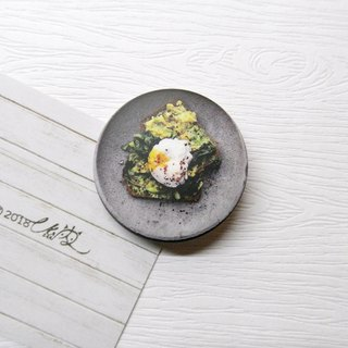 Eat goods badge series stone bowl wild vegetables / creative small things / personal characteristics