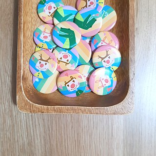 | Badge Magnet | My Rainbow Animals (Six)