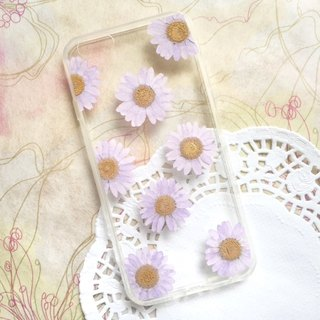 Pressed flower phone case - Purple Spring for iphone 5/5s/SE/6/6s/6 plus/6s plus/7/7plus/Samsung S4/S5/S6/S6Edge/S7/S7Edge/Note3/Note4/Note5