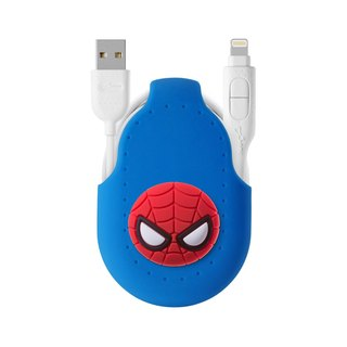 Bone / two-in-one cable transmission line dual-use line Android APPLE official certification iPhone - Spider-Man