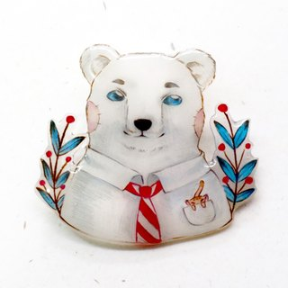 Mr.Polar bear  brooch