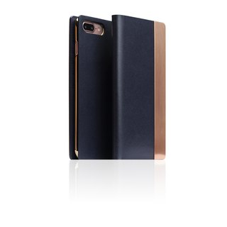 SLG Design iPhone 7 Plus D5 CSL Metallic Style Side Leather Leather Case - Blue