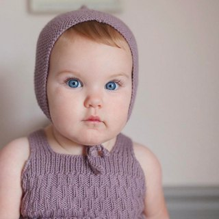 Caterpillar Hand Limited Edition Jumpsuit/ Plum/Military Gift, Baby Photo/Organic Cotton