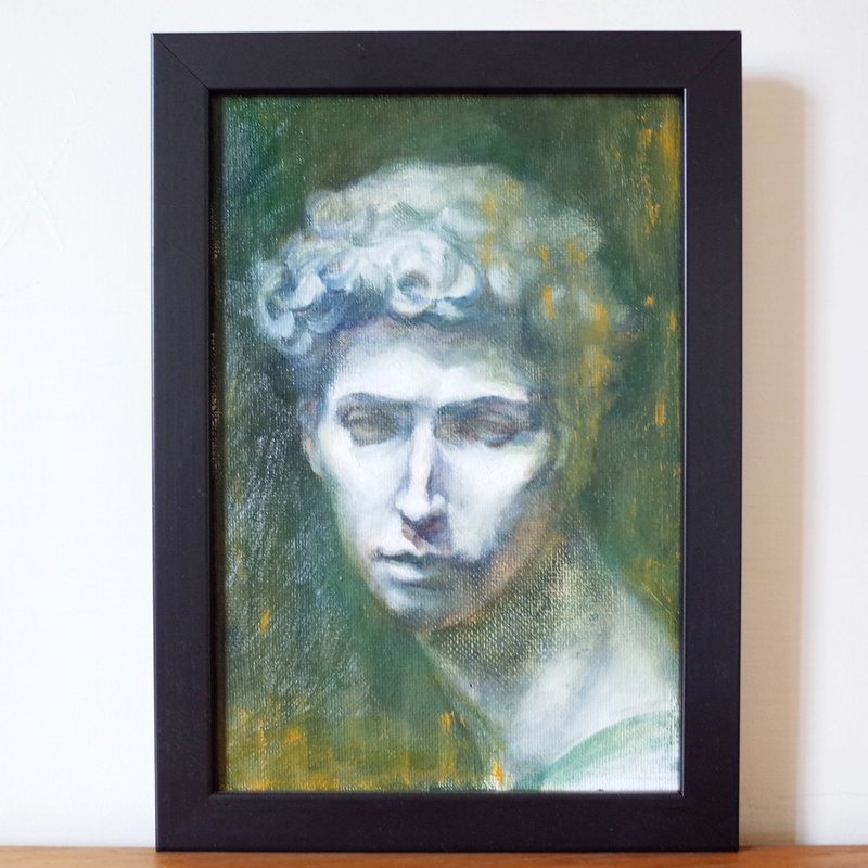 Medici Medici plaster like oil painting F 2 with frame size about 28.8 * 20.2cm