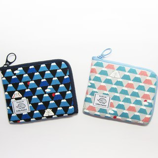 Ticket card coin purse <small animal Mount Fuji>