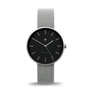 THE DRUMLINE - SILVER STEEL MESH STRAP WATCH