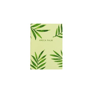Flower bloom horizontal line notebook S size 06. palm leaf