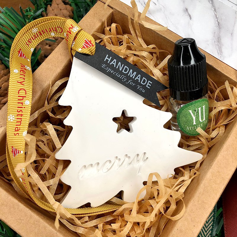 Christmas Limited-Handmade exquisite marbled scented brick gift box-Christmas tree scented brick listing with fragrance