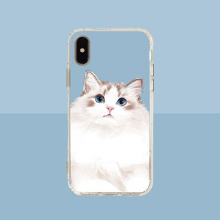 Big face puppet cat embossed air shell - iPhone / Samsung, HTC.OPPO.ASUS pet phone case