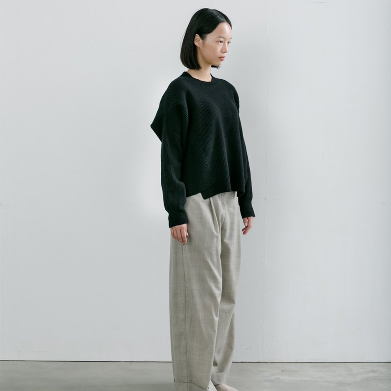 Horn stand button reversible pants