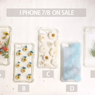 Dry flower phone case NG works :: IPHONE 7/8