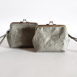 Knead paper / crumpled / gold wallet