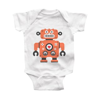 modern moose-robot-infant-bodysuit