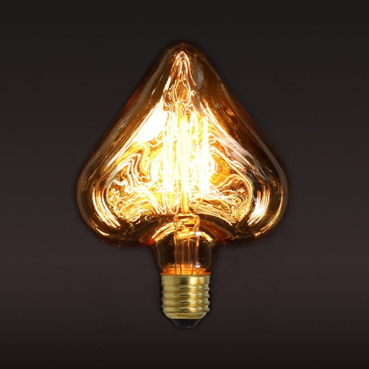 Retro‧Edison‧Tungsten light bulb‧Love (A) bulb│Good Form‧Good shape