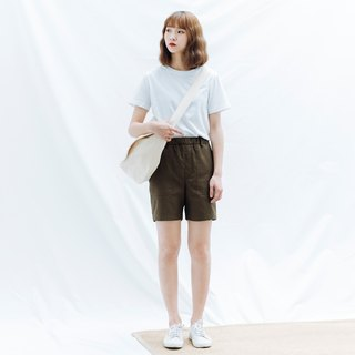 hao Olive Green Pocket Shorts