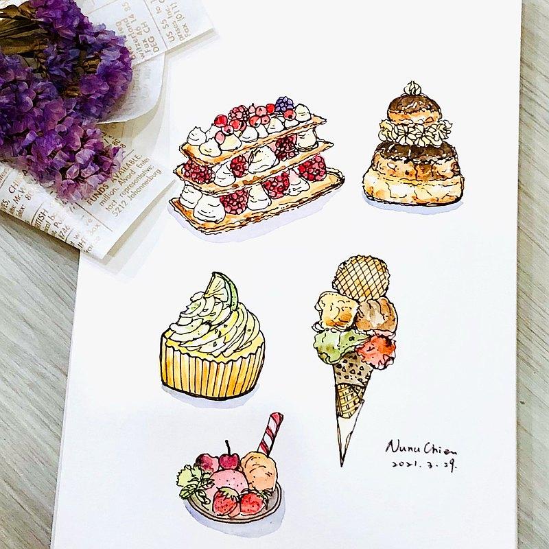 水彩速寫 ‧ 甜點 ‧ 手繪體驗活動