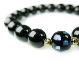 READ Dazzling 曜 | Hand Made Obsidian Single-Loop Hand Beads