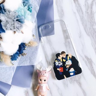 Birthday gift customized couple / friends / portrait guest chassis PHONECASE