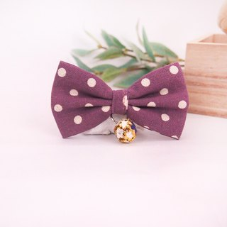 Orchid Purple Point Cat Mini Dog Small Dog Bow Decoration Collar