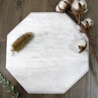 British Selbrae House natural marble octagonal minimalist design style cutting board / tray
