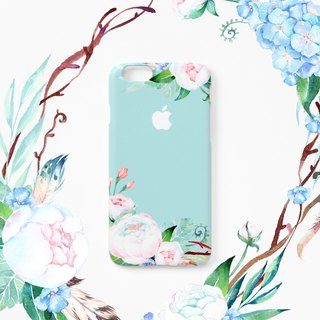 iPhone case - Mint Ranunculus (hard shell) - for iPhones - non-glossy C20