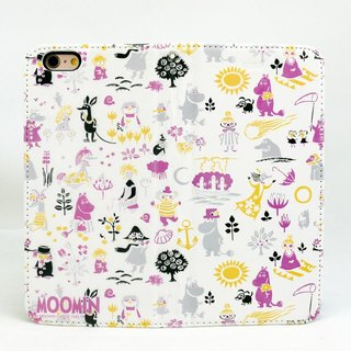 "Moomin Moomin genuine authority - Magnetic phone holster: [Happy Valley Summer (grapes) (white)] ""iPhone / Samsung / HTC / ASUS / Sony"""