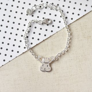 Bunny - Children's Forest Paradise (sterling silver bracelet): ::C% handmade jewelry::