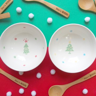 [Christmas limited] Christmas tree / snow tree bowl (with spoon)