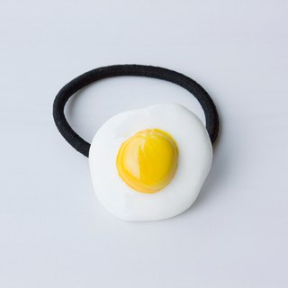 Hand made clay fried egg hair accessories hair ring headwear