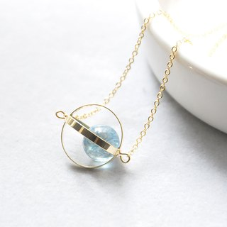 Blue planet. universe. Golden Circle. blue crystal. Necklace Blue Blue Planet. Galaxy. Golden Ring. Kyanite. Necklace. birthday present. Girlfriend gift. Sister gift