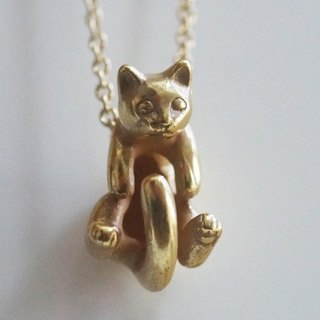 Gris and Rateyu of cat pendant Rateyu (Antique Gold)