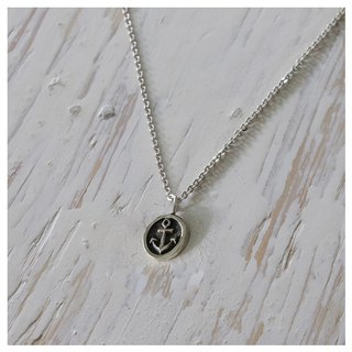 anchor Naval Navy Vintage silver Pendant Necklace handmade tiny gift her