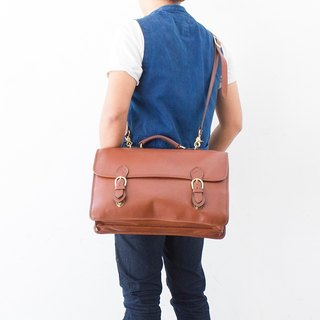 Made in USA Gabbriele 多脂牛皮公事包 Vintage Briefcase bag 香蕉貓。Banana Cats