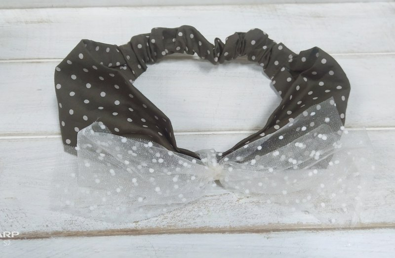 Lace bow hair band