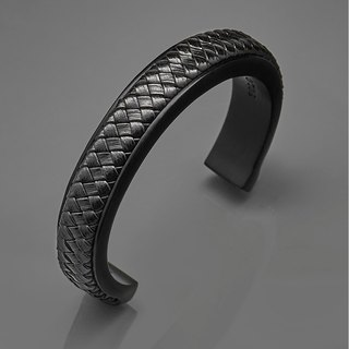 C type woven leather bracelet