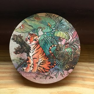 Ceramic Water Cup Coaster - Tiger - Jungle Tiger