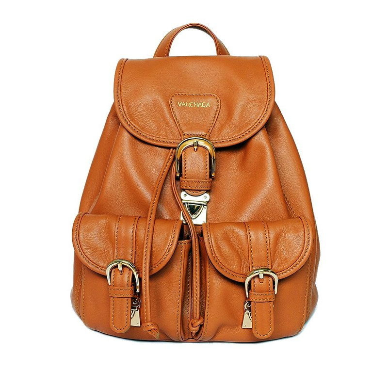 SALMON Bucket style Backpack Calfskin. A cool every day