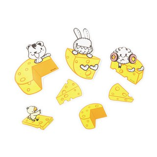 Foufou Cheese Styling Sticker Set