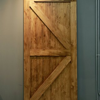 Country industrial wind barn door piece (single-sided arrow Japanese type) _ Meishan slanting door / sliding door / room door