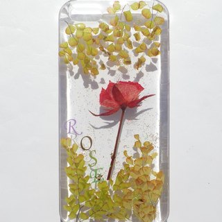 Handmade phone case, Pressed flowers phone case, iphone 5/5S and SE phone case, Rose